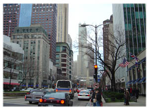 Die Magnificent  Mile in Chicago